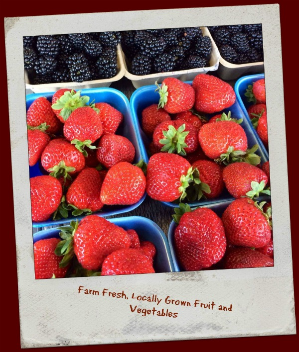 Local no spray strawberries, blueberries, blackberries from the farm and Fraser Valley